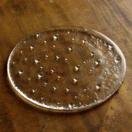 g3088-50-1 φ18.0水玉ガラス平皿 透明