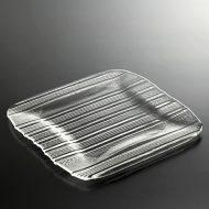 g3102-100-1 26.5x26.0ストライプガラス皿