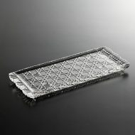 g3118y-45-1 14.3x9.5カットガラス長皿