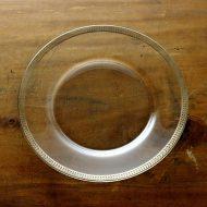 g3131-100-1 φ25.0縁シルバーラインデザートガラス皿
