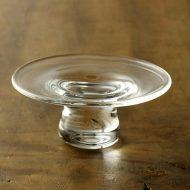 g3133-60-1 φ8.3x3.3高台ガラス豆皿 (井上 美樹)