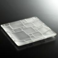 g3136-120-1 18.5x18.5すりガラス角模様角皿