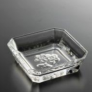 g3141-20-1 8.3x8.3x2.2花柄ガラス角小皿