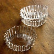 g3179-55-3 φ9.8~10.5x2.5~2.8ガラスタルト形皿 茶 透明