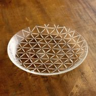 g3187-100-1 φ14.8切り子ガラス皿 三角柄 (金津沙矢香)
