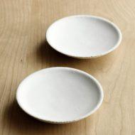 w1012白釉つやなし豆皿(黒木 奏等)