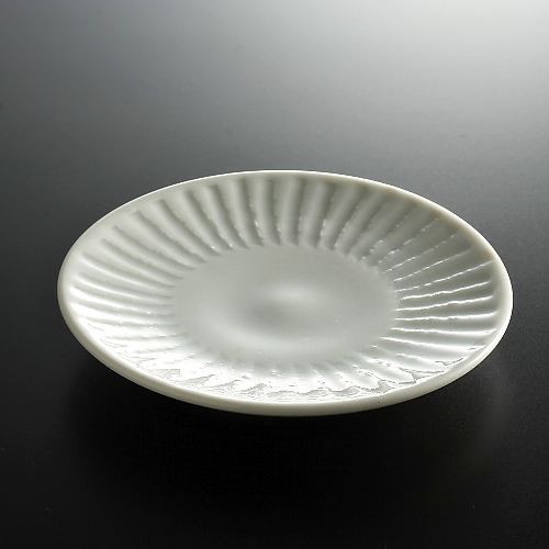 w1088青磁しのぎ豆皿