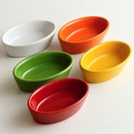 y4801-15-5 8.5x5.4x2.5カラフル楕円ボール(白、黄、オレンジ、赤、緑)