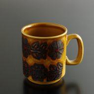 y6084-45-1 11.5x7.8x9.0イングランド薄茶茶花柄マグ
