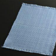 b1002-20-1 47.0×30.5藍染水色縦織目ランチョン