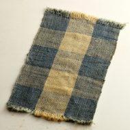 b1033-75-1 42.0×24.5藍染め手織ランチョン
