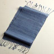 b1035-135-1 130×25藍染め手織ランナー