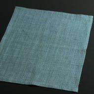b1060-40-1 44.5×33.5幡 濃いめ水色麻ランチョン