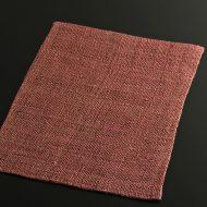 b1065-40-1 41.5×39.5くすみピンク荒織麻ランチョン
