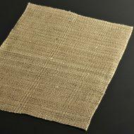b1073-25-1 45.5×33.5ベージュ系荒織麻ランチョン