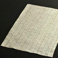 b1087-55-1 44.5×32.0遊 グレー白ひさご柄麻ランチョン