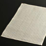 b1088-55-1 45.0×32.0白地赤角紋麻ランチョン