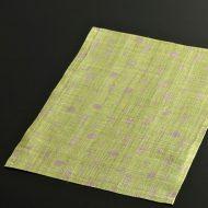 b1093-35-1 35.0×25.0遊 黄緑雲と月紋麻ランチョン