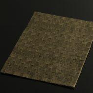 b1103-120-1 33.7×24.3茶市松織ランチョン