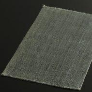 b1106-40-1 40.5×26.0幡 グレー青荒織麻ランチョン