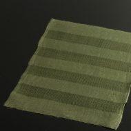 b1110-25-1 46.0×34.5よもぎ色立てしま織ランチョン