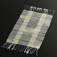 b1111-60-1 51.0×24.0紫/白/青系織ランチョン