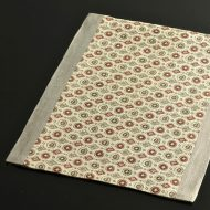 b1120-55-1 34.0×24.5遊 縁グレー丸紋麻ランチョン