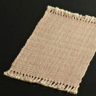 b1127-20-1 28.5×17.3サーモンピンク粗織り房つきランチョン