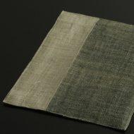b1133-55-1 29.3×23.0グレー/黒洗いざらし麻ランチョン