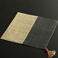 b1135-60-1 30.0×30.0黒/きなり荒織り正方二色麻ランチョン