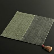 b1136-60-1 30.0×30.0黒/グレー荒織り正方二色麻ランチョン