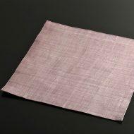b1137-45-1 34.7×34.7ピンク裏グレー麻正方ランチョン