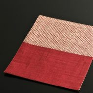 b1139-30-1 26.0×20.0赤丸紋二色麻ランチョン