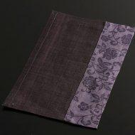 b1142-25-1 24.5×14.7紫/藤色唐草麻ランチョン