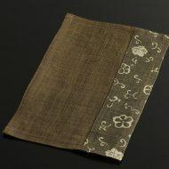 b1144-25-1 24.5×14.7茶/茶花唐草麻ミニランチョン