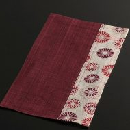b1146-25-1 24.5×14.7赤/花紋麻ミニランチョン