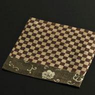 b1154-25-1 14.0×14.0茶花唐草/市松麻正方ランチョン
