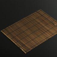 b1162-30-1 39.0×29.0茶ごま竹すだれランチョン