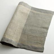 b1183-90-1 45.5×38.5手織りリネン/シルクランチョン(グレー/ベージュ)マキテキスタイルスタジオ