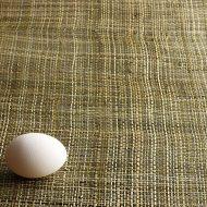 b2010-30-1 48×98深緑と生なり粗織り麻布