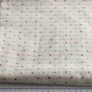 b2048-45-1 98×108白地ピンク薄茶ドットクロス