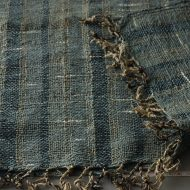 b2092-80-1 60×150青縦じま織り房つきクロス