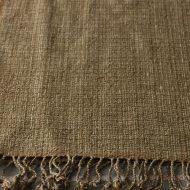 b2094-120-1 114×126茶格子織り房つきクロス