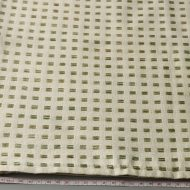 b2121-45-1 100×92生成りに緑格子入りクロス