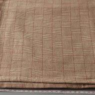 b2125-60-1 114×94茶生成り変わり格子織りクロス