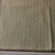b2127-45-1 110×104灰色に生成り麻の葉柄クロス