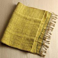 b2144-100-1 100×43草木染め黄色麻タオル babaghuriヨーガンレール