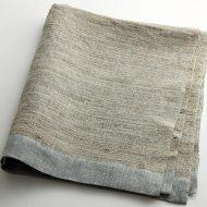 b2150-300-1 78x69手織りリネン/シルククロス(グレー/ブルー)マキテキスタイルスタジオ