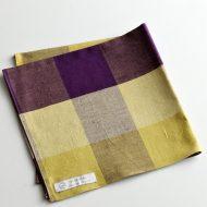 b3003-35-1 39x39伊勢木綿 紫/黄格子ふきん