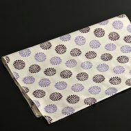 b3013-30-1 89.5x34.0ベージュに紫濃淡菊柄手ぬぐい